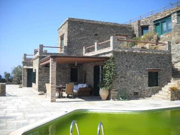 Wundersch�ne Steinvilla auf der Insel Andros Baujahr 2005 mit 140 qm Wohnfl�che in Andros | ObjektID: Gr-553