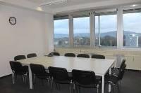 Seminarraum in Bonn Bad Godesberg mit Blick auf die Drachenfelsburg
